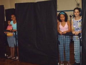 Ensaio da peça - As Meninas Faladeiras